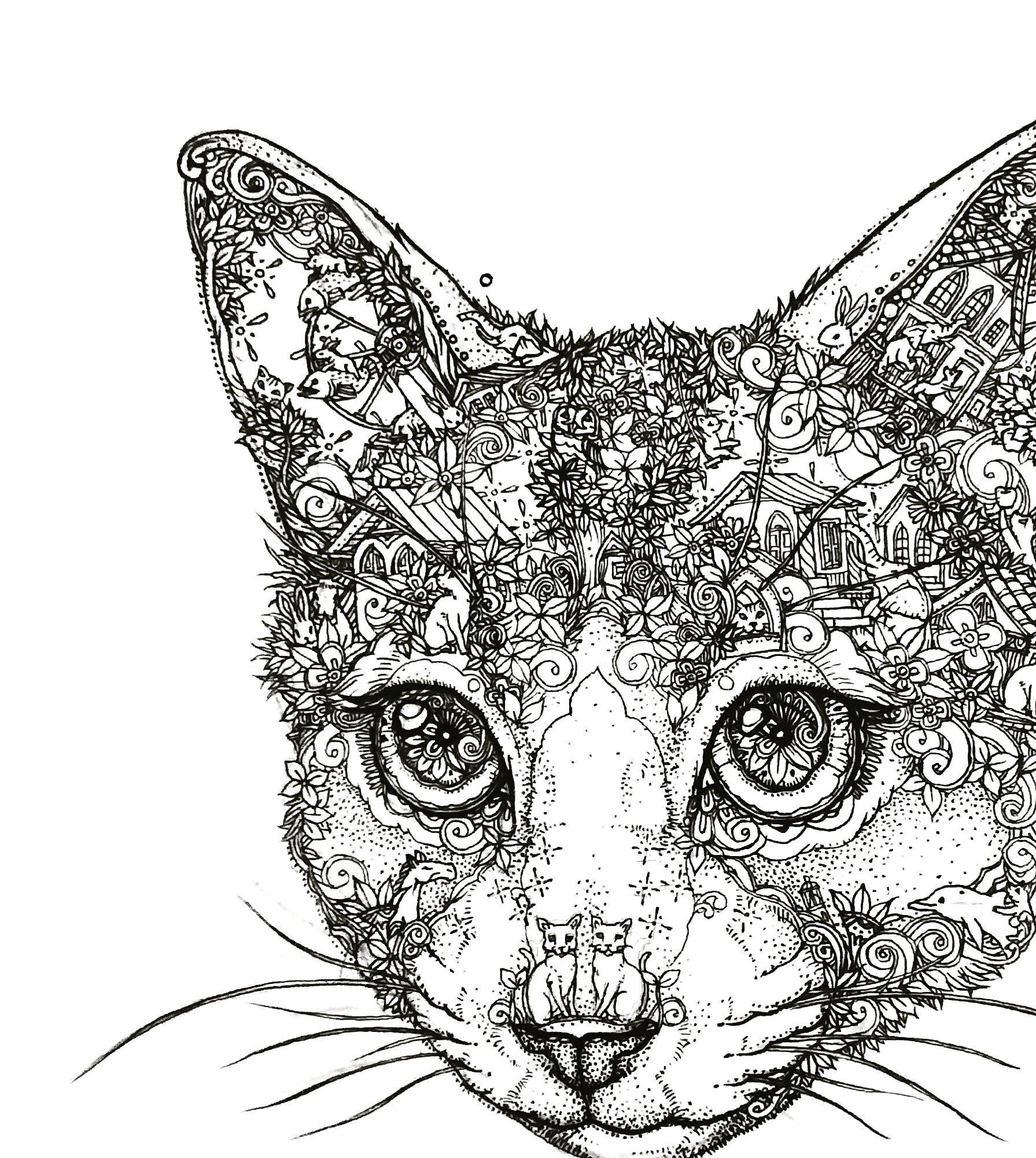 田村覚志(たむらさとし) – 猫とか動物の中にいろんな物が描いてある面白い絵の作者